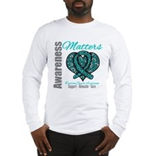 AwarenessMatters TealRibbon Long Sleeve T-Shirt