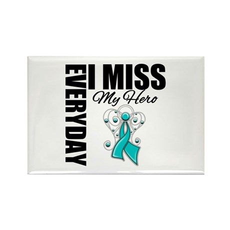 MissMyHero OvarianCancer Rectangle Magnet