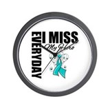MissMyHero OvarianCancer Wall Clock