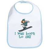 Born to Ski Abigail Bib