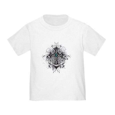 OvarianCancer FaithCross Toddler T-Shirt