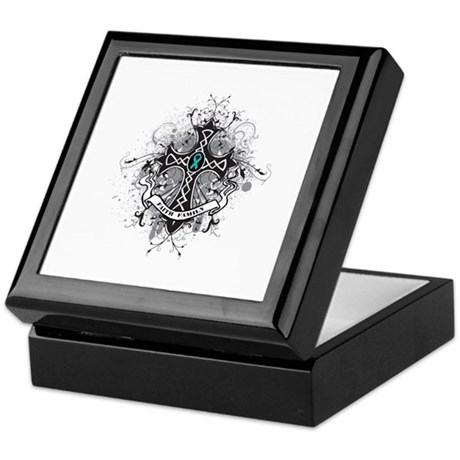 OvarianCancer FaithCross Keepsake Box