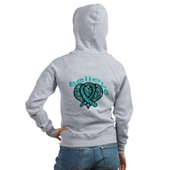 OvarianCancer BELIEVE Women's Zip Hoodie