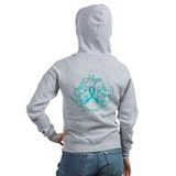 OvarianCancer HopeStrength Zip Hoodie