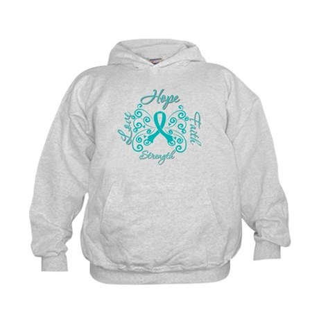 OvarianCancer HopeStrength Kids Hoodie