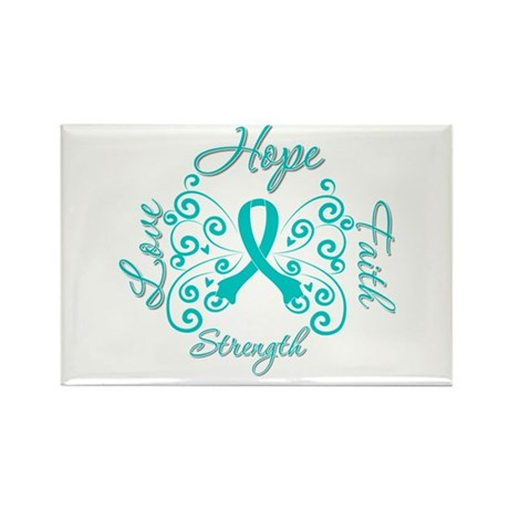 OvarianCancer HopeStrength Rectangle Magnet