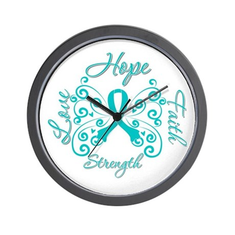 OvarianCancer HopeStrength Wall Clock