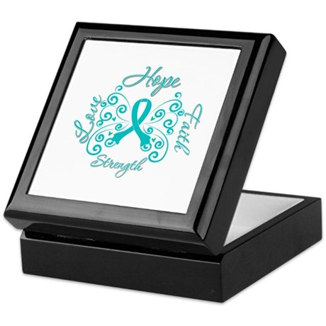 OvarianCancer HopeStrength Keepsake Box