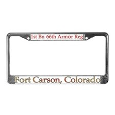 1st Bn 66th AR License Plate Frame
