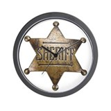Sheriff -  Wall Clock