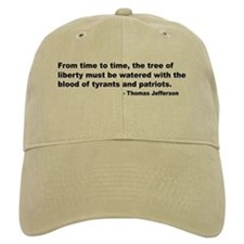 Jefferson Tree of Liberty Quote Baseball Cap
