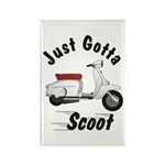 Just Gotta Scoot Lambretta Rectangle Magnet (10 pa