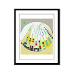 White-Square Framed Panel Print