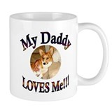 My Daddy Loves Me - Red Corgi Mug