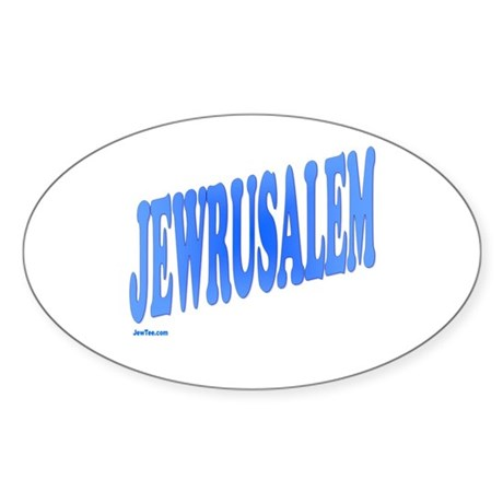 Jewrusalem Israel Sticker (Oval)