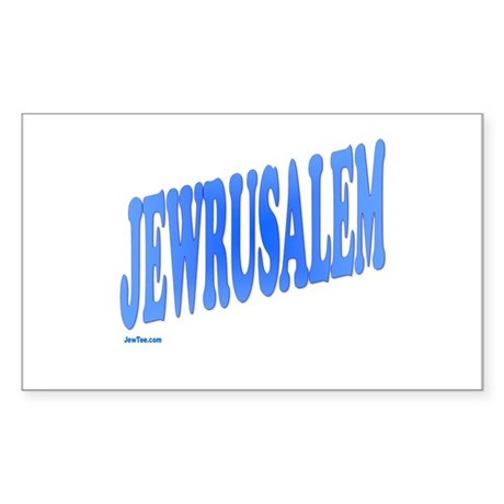 Jewrusalem Israel Sticker (Rectangle)