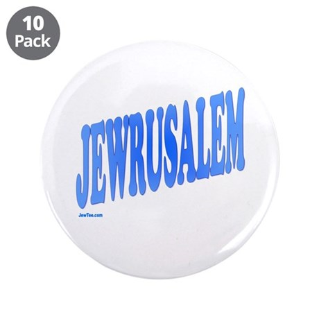 "Jewrusalem Israel 3.5"" Button (10 pack)"
