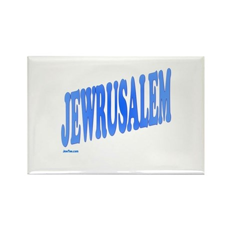 Jewrusalem Israel Rectangle Magnet (10 pack)