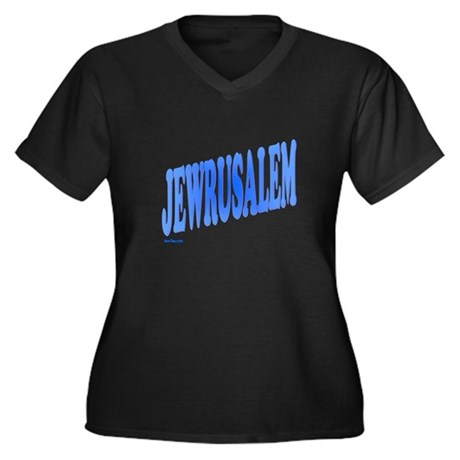 Jewrusalem Israel Women's Plus Size V-Neck Dark T-