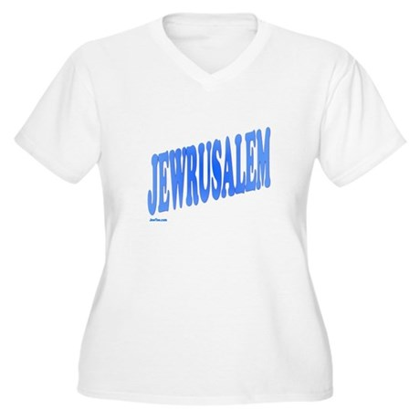 Jewrusalem Israel Women's Plus Size V-Neck T-Shirt
