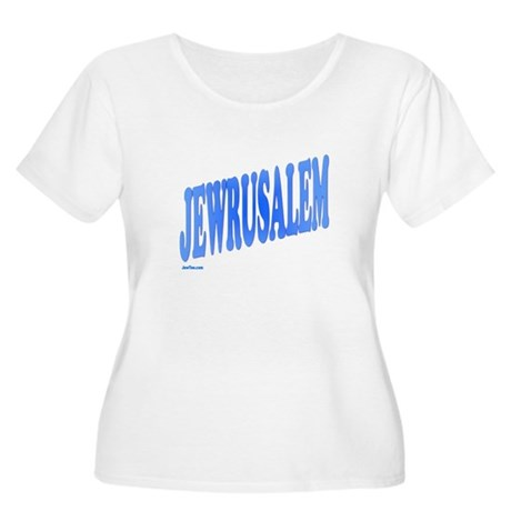 Jewrusalem Israel Women's Plus Size Scoop Neck T-S