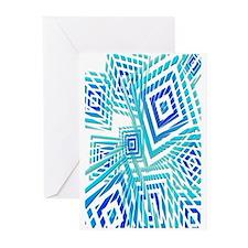 Atomic Blue Prizm Greeting Cards (Pk of 10)