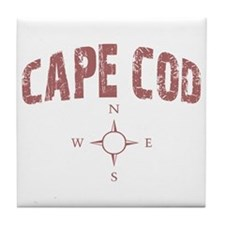 Cape Cod Compass Tile Coaster