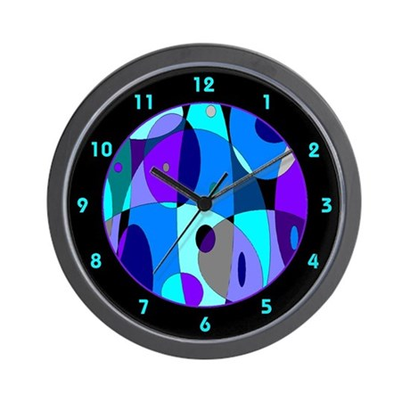 Cool Psychedelic Wall Clock By Retro Active