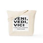 Veni Vedi Vici Caesar Quote Tote Bag
