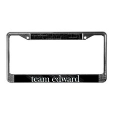 Team Edward Gothic License Plate Frame