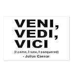 Veni Vedi Vici Caesar Quote Postcards (Package of