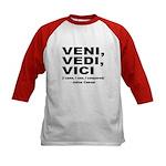 Veni Vedi Vici Caesar Quote (Front) Kids Baseball