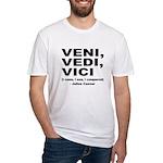 Veni Vedi Vici Caesar Quote Fitted T-Shirt