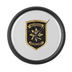 Fulton County Marshal Large Wall Clock