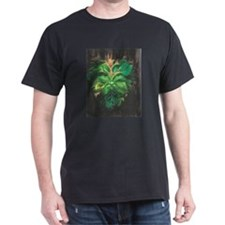 Green Man Black T-Shirt