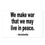 Make War to Live in Peace Quote Postcards (Package