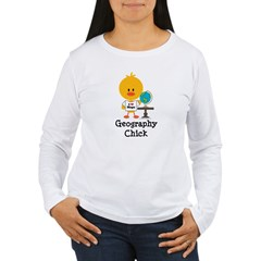 Geography Chick Women's Long Sleeve T-Shirt