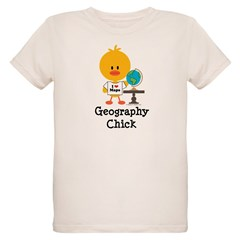 Geography Chick Organic Kids T-Shirt