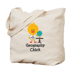 Geography Chick Tote Bag