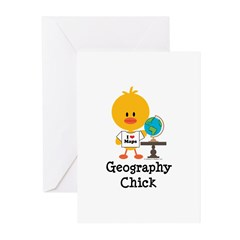 Geography Chick Greeting Cards (Pk of 10)