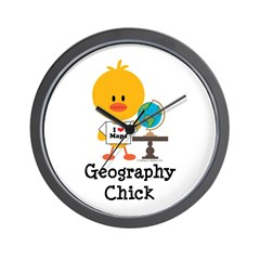 Geography Chick Wall Clock
