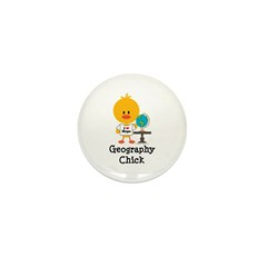 Geography Chick Mini Button (100 pack)