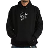 Dolphin Dark White Waves Hoody