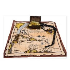 Pirate Map Treasure Postcards (Package of 8)