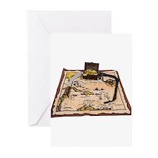Pirate Map Treasure Greeting Cards (Pk of 20)