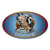 Flying Hawk Dreamcatcher Decal