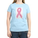 Breast Cancer Ribbon Art Women's Light T-Shirt