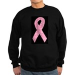 Breast Cancer Ribbon Art Sweatshirt (dark)