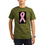 Breast Cancer Ribbon Art Organic Men's T-Shirt (da