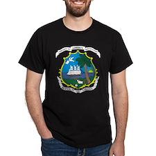 Liberia Coat Of Arms Black T-Shirt